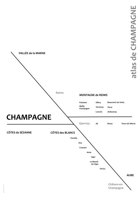 Map of Champagne nouvelle vague