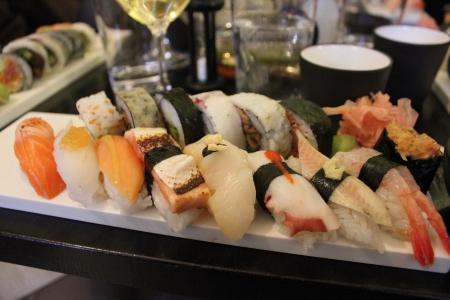 Sushi at Råkultur Sthlm