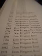 Dom Pérignon winelist