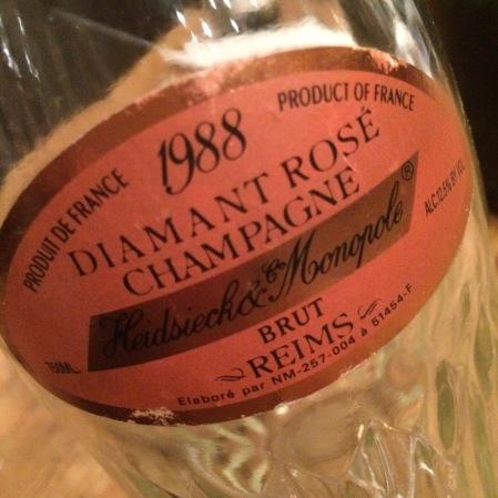1988 Heidsieck&Monopol 'Diamant Rosé'