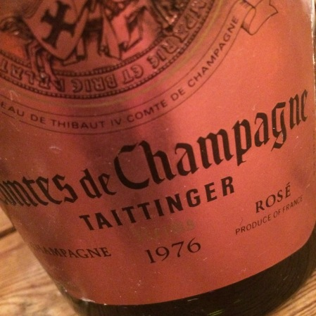 1976 Tattinger 'Comtes de Champagne Rosé'